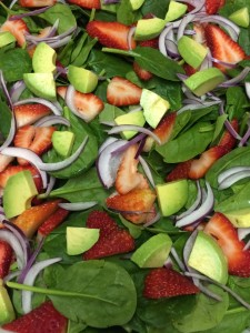 purple onion caterer stouffville strawberry salad